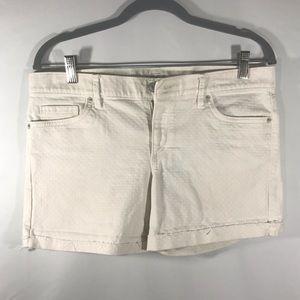 Ann Taylor Loft Denim White Shorts Women's Size: 6